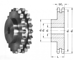 Duplex Sprockets 12B-2 with hardened teeth