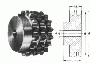 Dreifach-Kettenräder 08B-3 DIN 8187